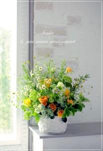 吉澤さんアレンジ-6月季節のアレンジ 初夏の草花のアレンジ